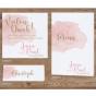 """Tischkarten """"Altrosa"""" - Mögliches Kartenzubehör"""