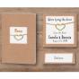 Moderne Hochzeitseinladungen - passende Karten in diesem Set