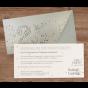 """Moderne Einladungskarte """"Silber"""" - Gestaltungsbeispiel Karteninnenseiten"""