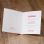 Moderne Einladungskarten - weiteres Gestaltungsbeispiel Karteninnenseiten