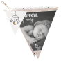 """Moderne Geburtskarten & Babykarten """"Wimpel"""""""