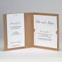 Moderne Hochzeitseinladung - Karteninnenansicht
