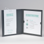 """Moderne Hochzeitseinladungen """"Silber""""- Gestaltungsbeispiel Karteninnenseiten mit Einsteckkarten"""
