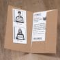 """Moderne Hochzeitseinladung """"Vertraulich"""" - Gestaltungsbeispiel Karteninnenseiten"""
