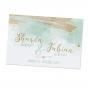 """Moderne Hochzeitskarte """"Minzgrün"""" mit edler Goldfolienprägung"""