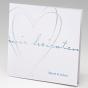 Moderne Hochzeitskarte mit Herz