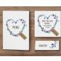 Moderne Hochzeitskarten - Mögliches Kartenzubehör