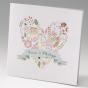 Moderne Hochzeitskarten  im romantischen Blumendesign