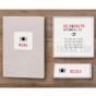 """Tischkarten """"Modern"""" - mögliches Kartenzubehör"""