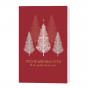 Moderne Weihnachtsgrüße mit edler Goldfolienprägung & matter Drucklackierung