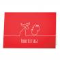 """Moderne Weihnachtskarten """"Rot"""" mit edler Silberfolienprägung"""