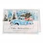 Moderne Weihnachtskarten mit trendigem Motiv im Vintage-Stil und edler Silberfolienprägung