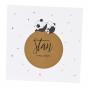 """Niedliche Geburtskarten """"Panda"""" mit edler Kupferfolienprägung"""