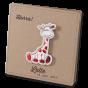 """Niedliche Geburtskarten """"Giraffe"""" auf Kraftkarton mit edler Folienprägung"""