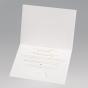 Romantische Hochzeitseinladung - Gestaltungsbeispiel Karteninnenseite