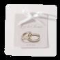 Romantische Hochzeitseinladungen mit zarter Zierschleife und edler Folienprägung