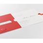 Romantische Hochzeitseinladungskarte mit Einschiebekarte
