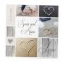 """Romantische Hochzeitskarten """"Strand"""" mit Silberfolienprägung"""