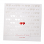 Romantische Hochzeitskarten mit exquisiter Rot- und Weißfolienprägung