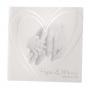 """Romantische Vermählungskarten """"Familie"""" mit bezauberndem Motiv und extravagantem transparentem Umleger mit edler Silberfolienprägung"""