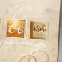 """Romantische Hochzeitseinladung """"Strand"""" - Detailansicht"""