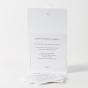 """Romantische Hochzeitseinladungen """"Feder"""" - Gestaltungsbeispiel Karteninnenseiten mit Einlegekärtchen"""