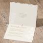 Romantische Hochzeitskarte - Gestaltungsbeispiel Karteninnenseite