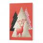 """Rote Weihnachtskarten """"Hirsch"""" mit eleganter Gold- und Rotfolienprägung"""