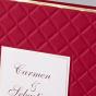 """Rote Hochzeitseinladungen """"Royal"""" - Detailansicht"""