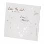 "Save the date Karte ""Schmetterling"" auf modernem Aquarellkarton mit edler Folienprägung"