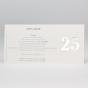 """Elegante Einladungskarten """"Silberhochzeit"""" - Gestaltungsbeispiel Karteninnenseite."""