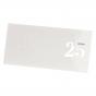 """Elegante Einladungskarten """"Silberhochzeit"""" mit edler Silberfolienprägung"""