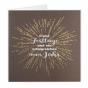 Stimmungsvolle Weihnachtskarten mit goldener Glanzprägung wie ein Feuerwerk und edler Reliefprägung in Silber