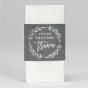 Taschentuchhalter aus silbergrauem Metallicpapier