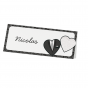 """Tischkarten """"Brautpaar"""" auf schimmerndem Premiumkarton"""