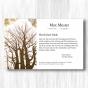 """Trauerdanksagungen """"Bäume"""" mit klassischem Motiv"""