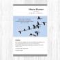 """Moderne Trauerdanksagungen """"Zugvogel"""" im ausgefallenen Design"""