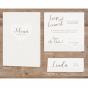 """Tischkarten """"Herz"""" - Mögliches Kartenzubehör"""