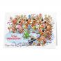 """Lustige Weihnachtskarten """"Comic"""" mit hübschem Glitzerlack"""