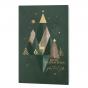 Weihnachtskarten mit edler Goldfolienprägung & mordernen Weihnachtsbäumen