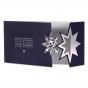 """Weihnachtskarten """"Stern"""" mit edler Silberfolienprägung"""
