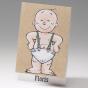 """Witzige Geburtskarten """"Comic"""" - Gestaltungsbeispiel ohne Applikationen"""