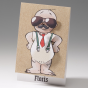 """Witzige Geburtskarten """"Comic"""" - Gestaltungsbeispiel Aussenseite mit Krawatte"""