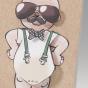 """Witzige Geburtskarten """"Comic"""" - Gestaltungsbeispiel Aussenseite mit Fliege"""