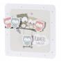"""Geburtskarten """"Eulen"""" mit fröhlichen Eulenapplikationen"""