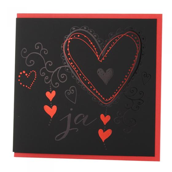 Ausgefallene edle Hochzeitskarten mit exquisiter Folienprägung