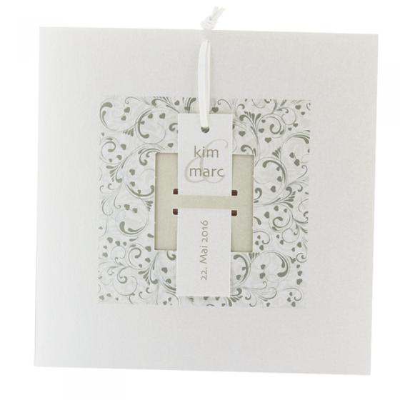 Ausgefallene Hochzeitskarte mit raffinierter Verschlusstechnik