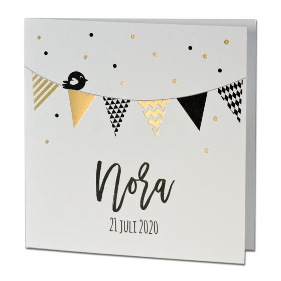 Edle Geburtskarten mit schimmernder Goldfolienprägung im trendigen Design.