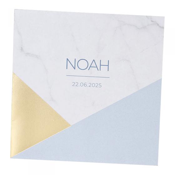 Elegante Babykarten mit edler Goldfolienprägung & Marmorprint