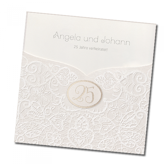Elegante Einladungskarte mit ausgefallener Veredelung